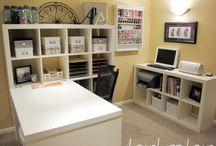 office/craft room / by Cindy Weller Viken