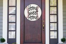Shut The Front Door Door Hangers / Shut The Front Door by Unique Textile Printing offers a variety of garden flags, indoor and outdoor decor, welcome mats and more.  Check us out at www.uniquetextileprinting.us Farm, Military, Show, Swimming, Baseball, Softball, Sports, Georgia, Coastal, Billiard, Mascots, Sailing, Christmas, Halloween, Spring, Holidays, Birthday, Wedding, Gifts, Mother's Day.
