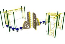 PlayMax / The perfect play system for school-age children everywhere! These playground structures encourage movement with a focus on balance, coordination, and climbing to maximize the physical potential of each child. Other advantages include putting an early focus on fitness for vigorous play and a healthy lifestyle.