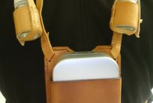 fly fishing leather Chest pack