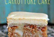 White chocolate carrot cake