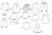 flat sketches kids