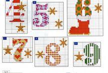 Cross stitch - numbers / Vyšívání - čísla