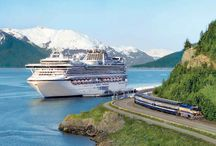 "Alaska Cruisetours / Thrill to white thunder in Glacier Bay, marvel at sunlight at midnight and close-ups of whales, eagles and caribou. Delight in Mt. McKinley's majesty and meadows carpeted with wildflowers. Amid unsurpassed grandeur and serenity, the true wilderness of Denali is calling.""  Catch sight of a humpback whale or wolf pups frolicking in the snow. Alaska is as rustic and romantic as one could ever imagine. Whales, Wonders and Wilderness."