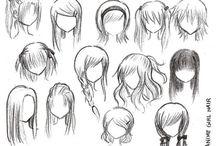 coiffures manga