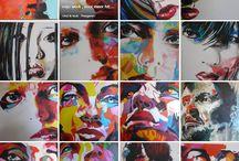kleurrijke kunst en plaatjes