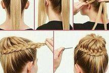 Hoe je je haar kan doen / Een bord met pinnen hoe je iets moet maken in je haar