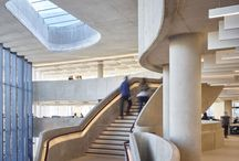 2016 Shortlist - The Hiscox Building, York / The Hiscox Building in York is made with 5000m3 of concrete – enough to fill two Olympic-sized pools. The end result is both visually and structurally stunning. From the piled foundations and the façade panels to the superstructure and the freestanding, ribbon-like central staircase, concrete is what defines this extraordinary building.