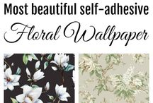 Removable wallpaper / Wallpaper with self adhesive | removable wallpaper | home decor |  | apartment wallpaper | accent wall wallpaper