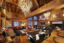 Chalet Le Rocher, Val d'Isere / We love the style of Chalet Le Rochet in Val d'Isère – a mix of rustic alpine chic with a hint of ethnic detailing and state-of-the-art technology, all finished off with plenty of decadent glamour.