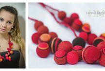 my felt jewelry / Autorska biżuteria filcowa. Autor: Katarzyna Sypko-Kubicka www.hendmejdbajkejt.blogspot.com