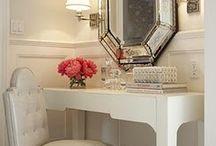 Bathrooms and vanity / by Vera Santos