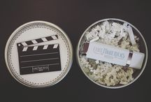 Film Packaging / Modeled after vintage film reel cans. Store your Wedding Film in style.