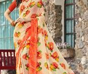 Floral Print Sarees