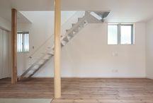 オーダーの階段 / スチールや木材で造ったオーダーの階段。 階段もインテリアです。
