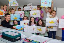 Yellow Submarine Workshop / Teaching a children's workshop in Skerries, Dublin.
