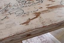 flea market finds- painted furniture