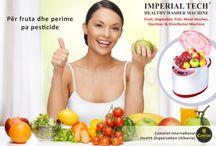 Pastrues ushqimi ujë / Pastrues pa ujë i ushqimit Imperial Tech (Auto), Sterilizues ushqimi pa ujë Columbia