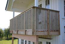 rekkverk terrasse og trapp