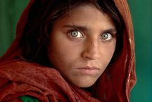 "Steve McCurry / Born in 1950. American photographer that has worked in photojournalism and editorial. He is best known for his 1984 photograph ""Afghan Girl"" which originally appeared in National Geographic magazine. McCurry is a member of Magnum Photos."
