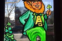 St. Patricks Day Windows 2016 / Rhythm & Booze,  3rd & 7 - Both in Brooklyn, New York