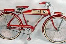 Retro Huffy: 1955 Radio Bike / 1955 - a simpler time. Drive in movies were all the rage, milkshake parlors were the hangout spot, and poodle skirts were in vogue. And don't forget the Huffy Radio Bike!