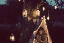 teepee and glamping lights