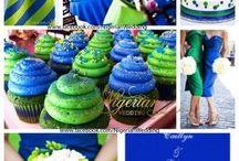 Royal Blue, Lime Green Theme