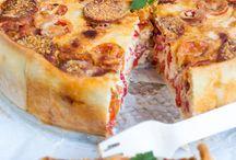 quiche's/pizza's