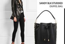 Sandy black studded bucket bag - Marlafiji