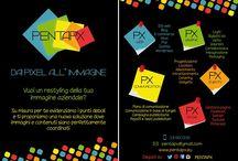 La nostra immagine / Immagine coordinata PENTApx Volantini, biglietti da visita, materiale pubblicitario