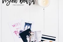 Vision Board / A vision board is any sort of board on which you display images that represent whatever you want to be, do or have in your life.