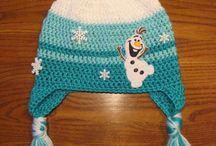 Crocheted Olaf hat
