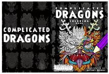 Complicated Dragons / Dragon Coloring Book - Part of the Complicated Coloring Series. Out now on Amazon: http://amzn.to/1RTaF7m