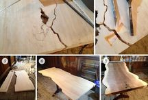 plywood into slab table