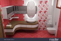 Banyo // bathroom / Banyo tasarımlarımız için bu panoyu takip edebilirsiniz..
