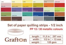 "1/2"" Paper Quilling Strips 13mm / by GraftonPl"