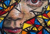 tekenen gezicht muur