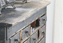 D.R.A.W.E.R.S. / Drawers, drawers & more drawers! Utilitarian, primitive, industrial, we love them all & their perfect hoarding...er...storage solutions!