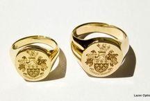 Signet Rings / Laser engrave family crest on rings
