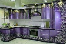 Purple Kitchen Ideas / Purple kitchen