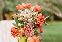 Tropicals / Tropical flower centerpieces