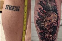 Cover-ups by Logan Aguilar / Cover-up tattoos by Logan Aguilar