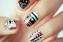 - finger nail art.
