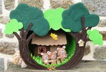необычные домики из фетра