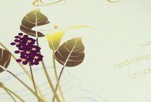 Nature inspired invitation suite