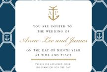 Nautical - Wedding stationery design by Invitation Gallery
