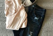 Jen's Closet, Ruffled Blush Top and Spring Jackets