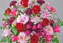 San Valentín / Ideas florales para San Valentín. Color predominante el rojo.