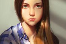 Digital paint : Portrait
